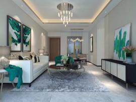新房三亚市区纯板楼南北通透户型方正85平米3房